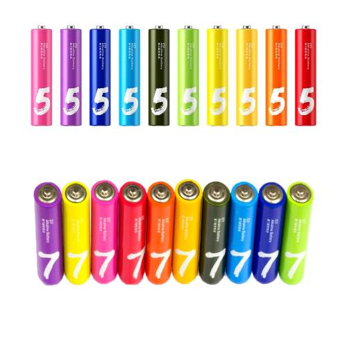 باتری قلمی و نیم قلمی آلکالاین شیاومی مدل ZI5  و ZI7 بسته 20 عددی