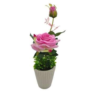 گلدان بهمراه گل مصنوعی هانا مدل 014