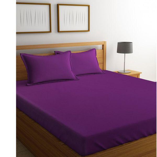 سرویس ملحفه دیبا مدل plain violet یک نفره 2 تکه