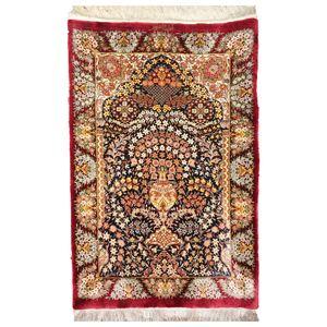فرش دستبافت نیم متری مدل گلدانی کرمان