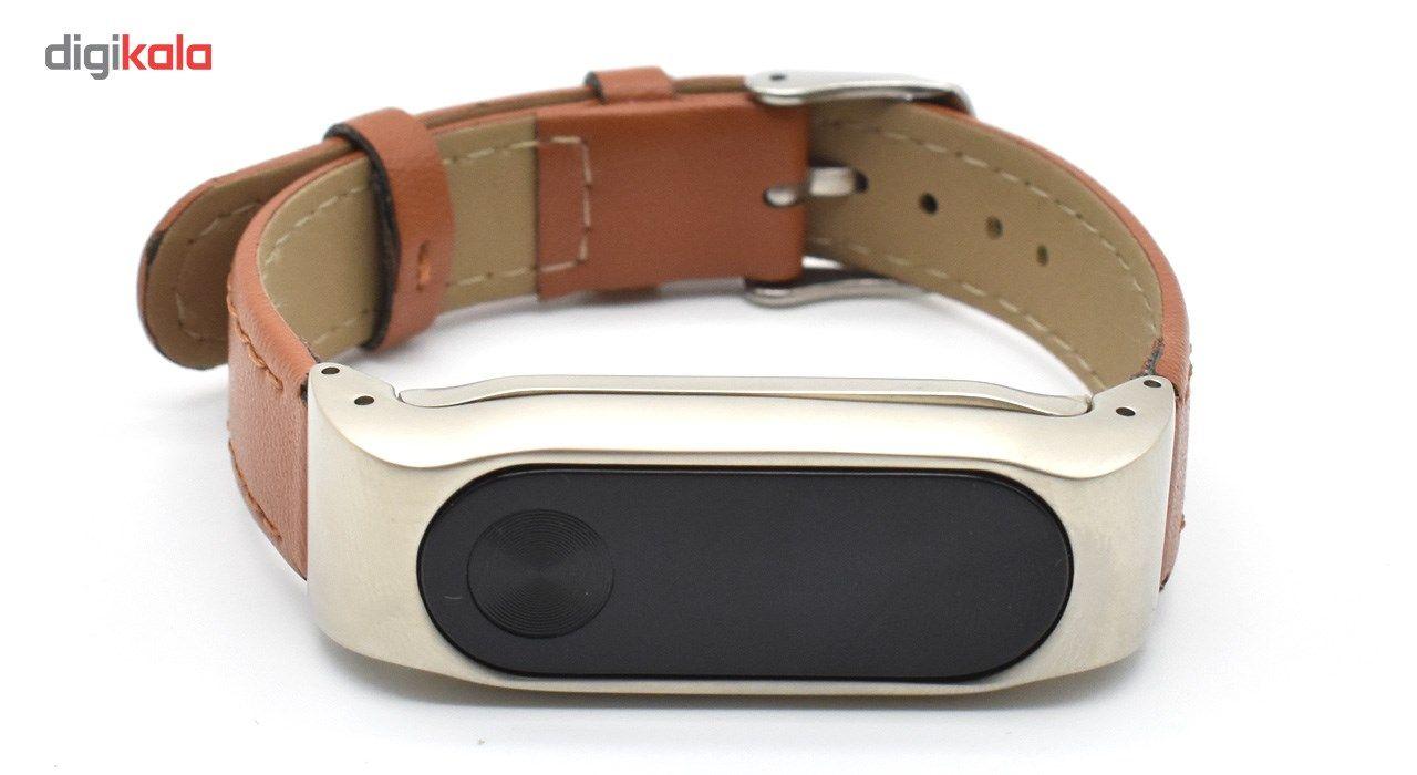 بند مچ بند هوشمند آکو مدل Mi Band 2 Leather کد BM342 مناسب برای مچبند شیائومی Mi Band 2