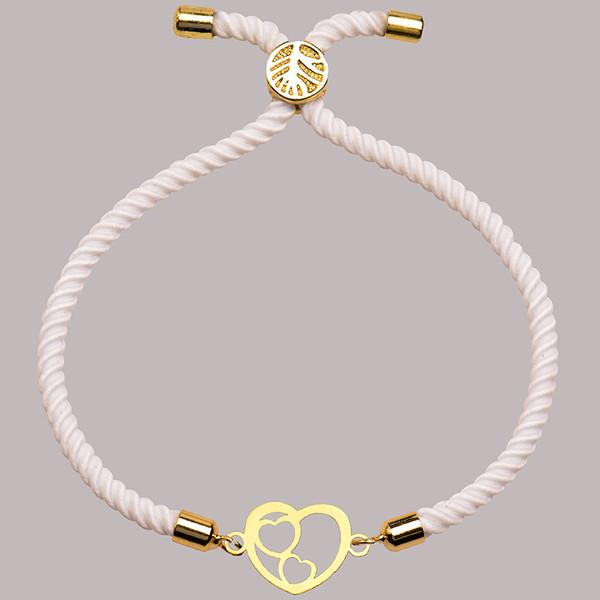 دستبند طلا 18 عیار زنانه کرابو طرح قلب مدل Kr1785