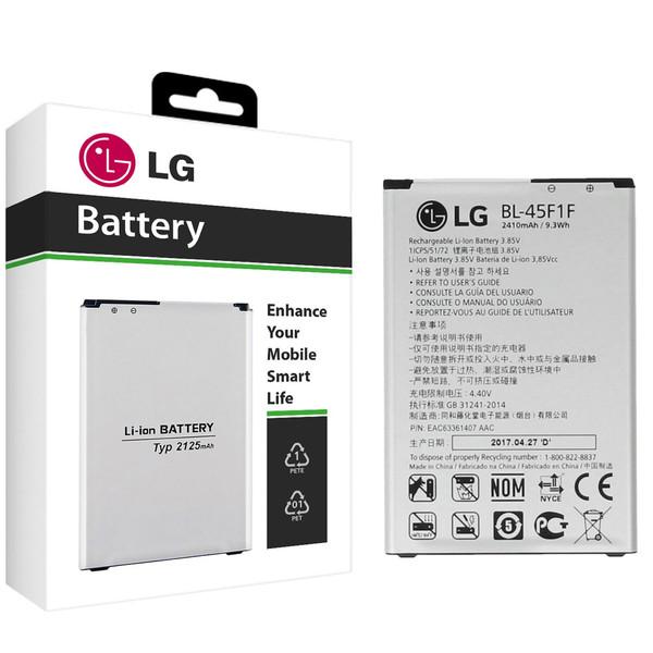 باتری موبایل مدل BL-45F1F با ظرفیت 2410mAh مناسب برای گوشی های موبایل ال جی K8 2017