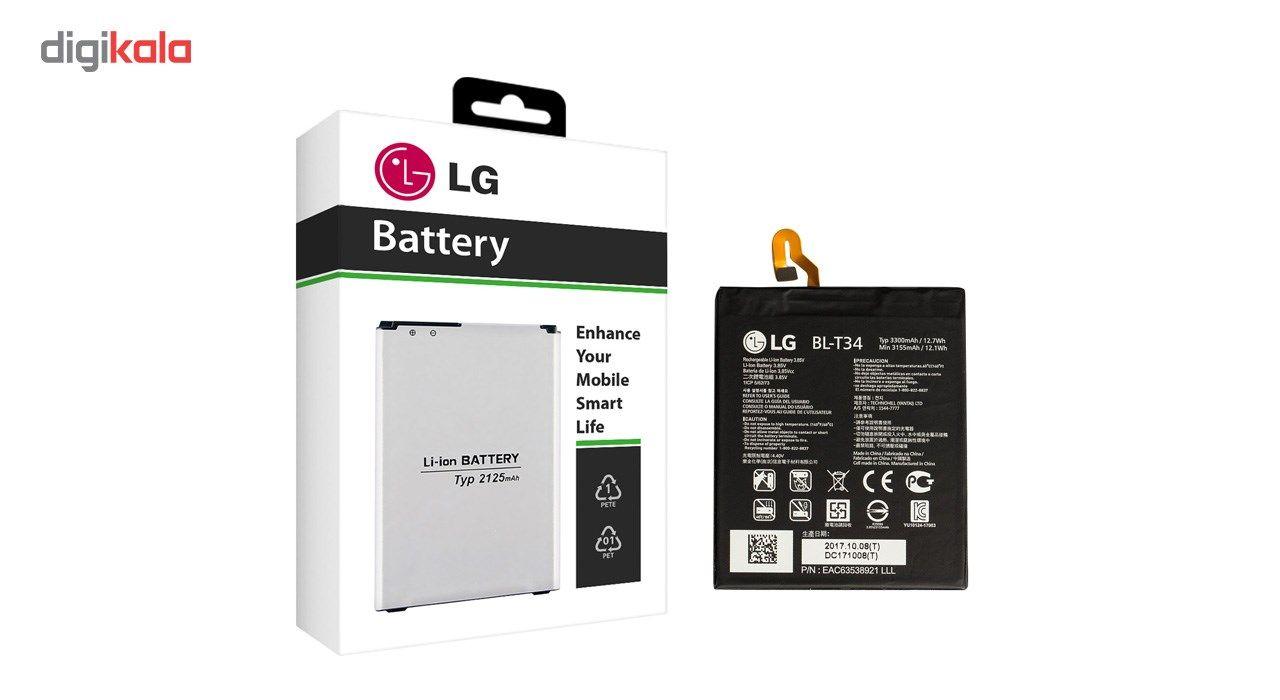 باتری موبایل مدل BL-T34 با ظرفیت 3300mAh مناسب برای گوشی موبایل  ال جی V30 main 1 1