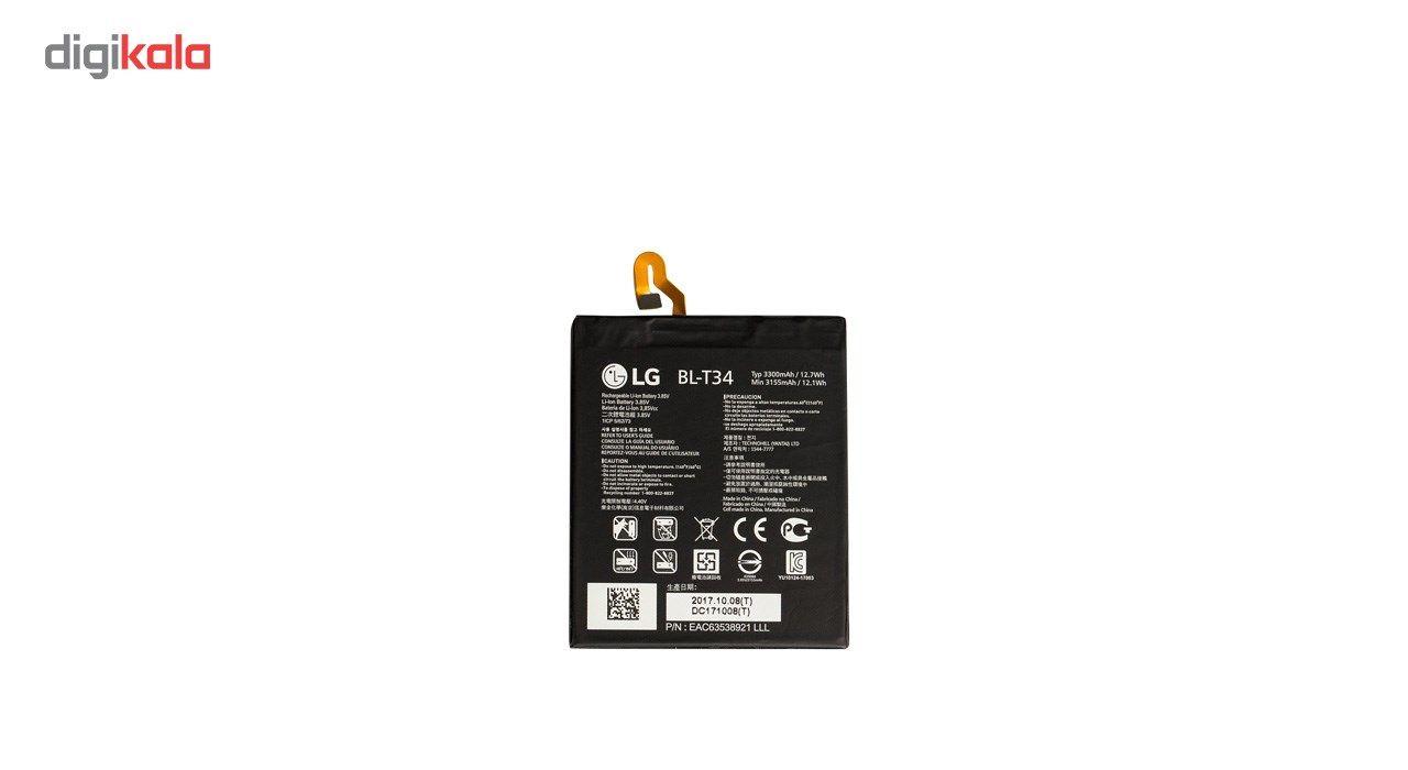 باتری موبایل مدل BL-T34 با ظرفیت 3300mAh مناسب برای گوشی موبایل  ال جی V30 main 1 2