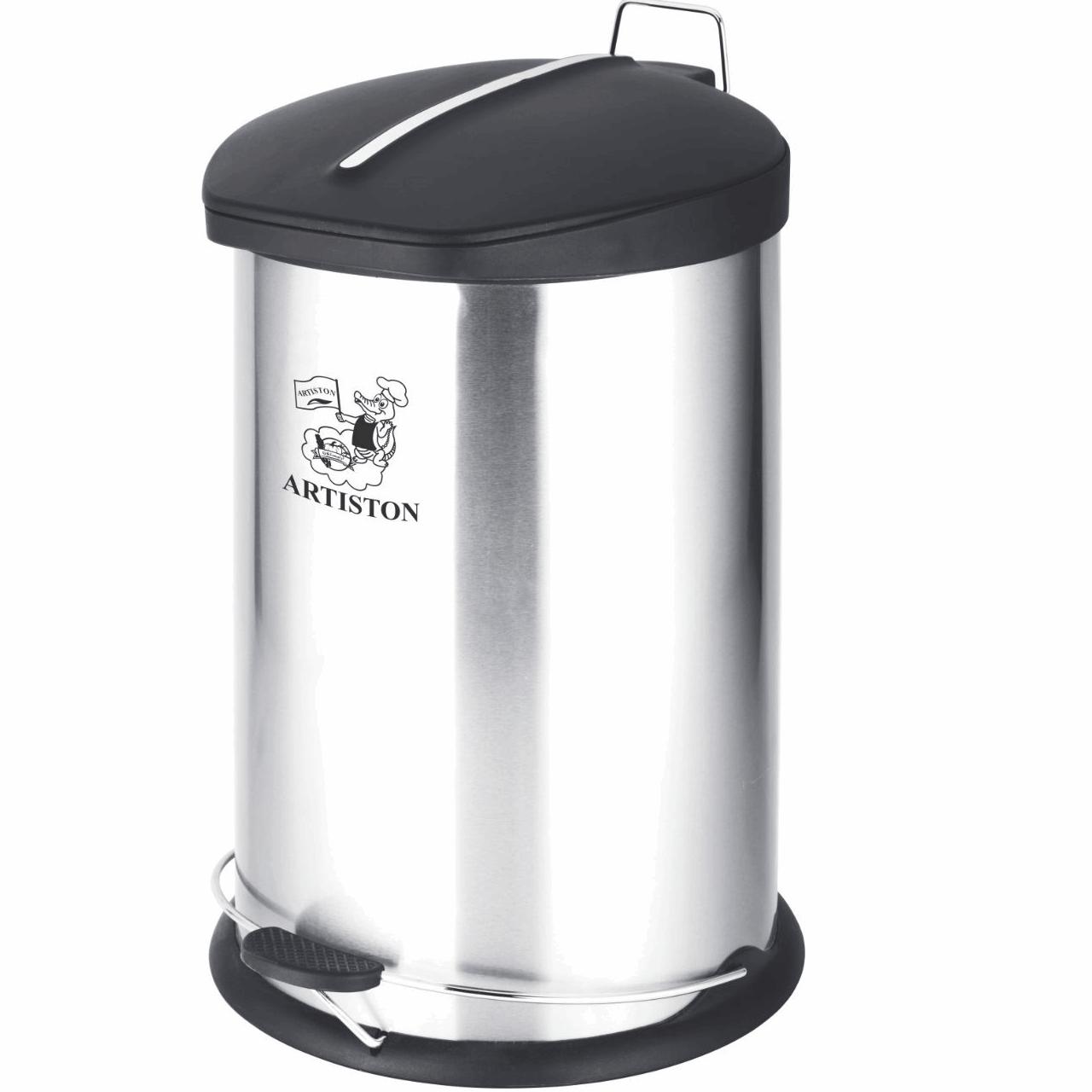 سطل زباله  استیل آرتیستون صنعت کد 3012 گنجایش 12 لیتر