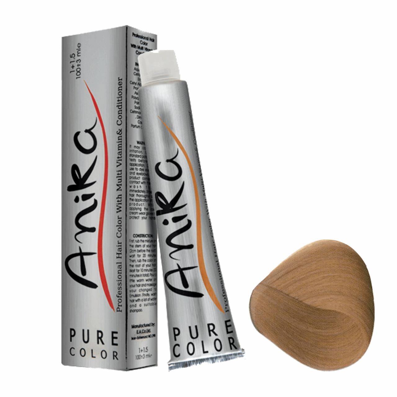 رنگ مو آنیکا سری نسکافه مدل بلوند نسکافه ای روشن شماره 8.7