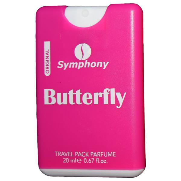 عطر جیبی زنانه سیمفونی مدل Butterfly حجم 20 میلی لیتر