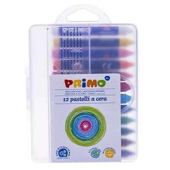 پاستل روغنی 12 رنگ پریمو مدل 057PC12MXP
