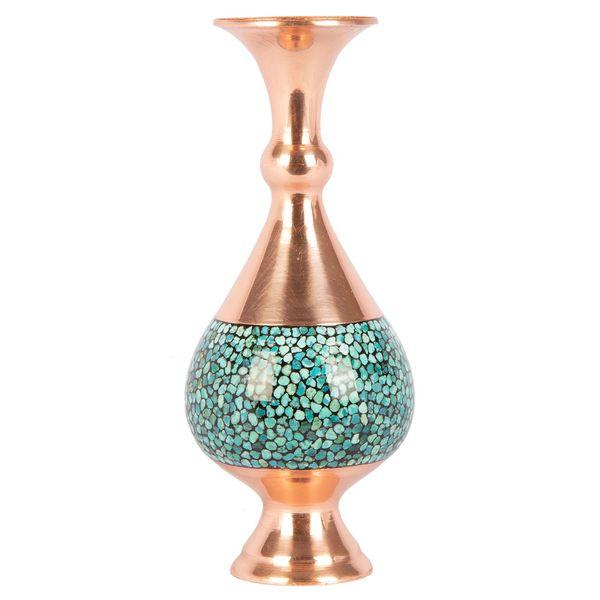 گلدان فیروزه کوب گالری گوهران مدل صراحی کد 1382