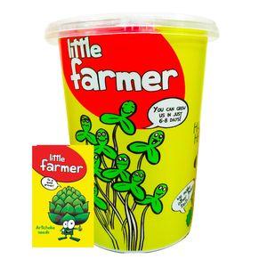 بذر  آماده برای  کشت کشاورز کوچولو مدل آرتیشو همراه با گلدان
