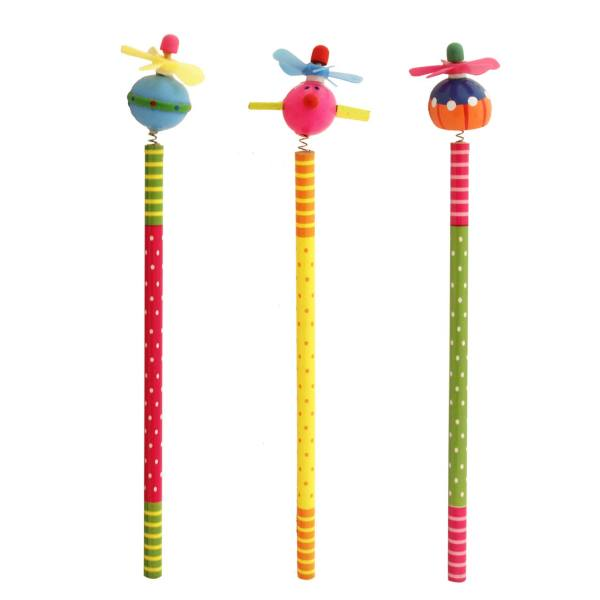 مداد مشکی ارت کیوب مدل عروسکی طرح 5016 بسته سه عددی