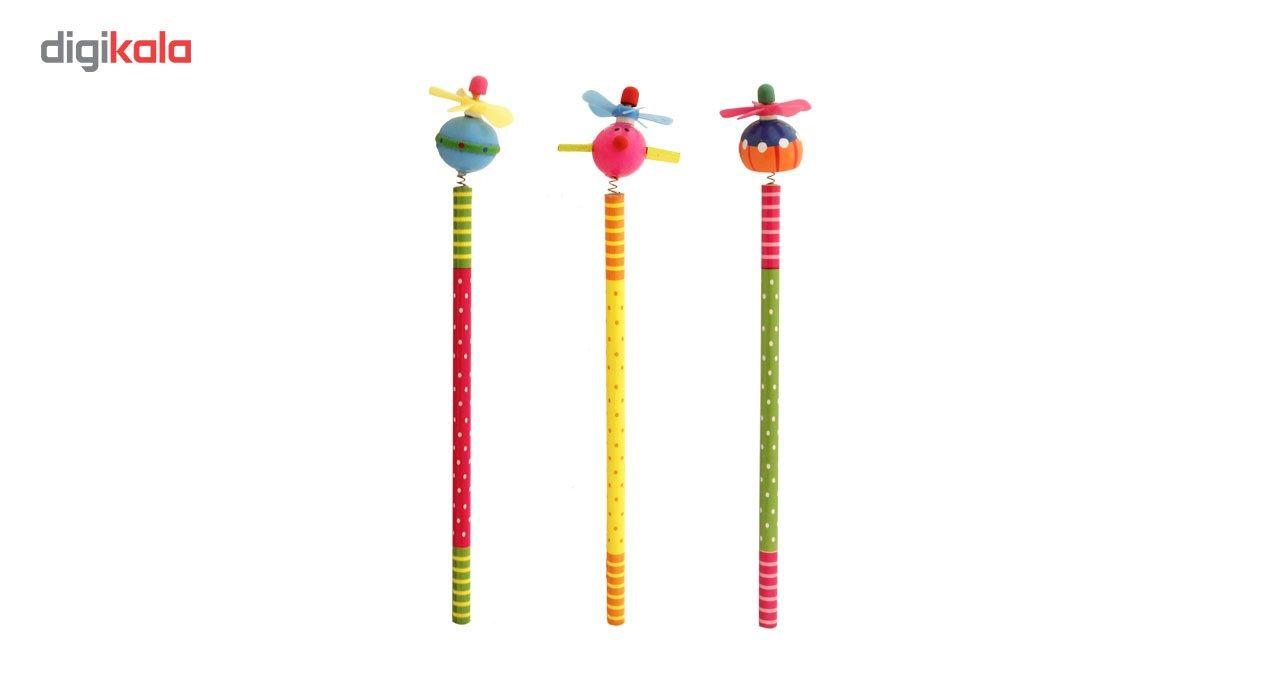 مداد مشکی ارت کیوب مدل عروسکی طرح 5016 بسته سه عددی main 1 1