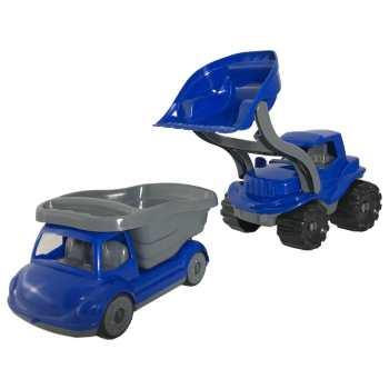 ماشین اسباب بازی مدل ست لودر و کامیون کد11