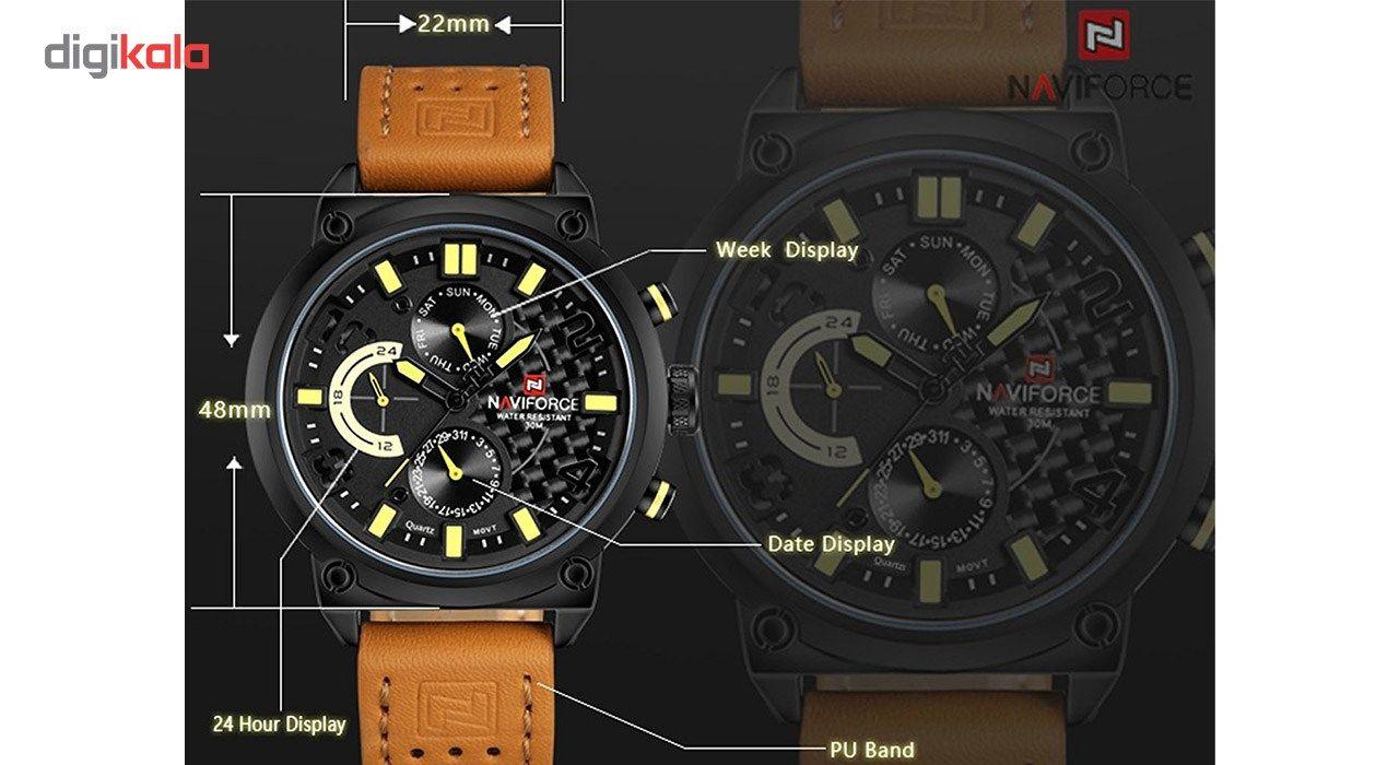 ساعت مچی عقربه ای مردانه نیوی فورس مدل NF9068L/BYBM -  - 9