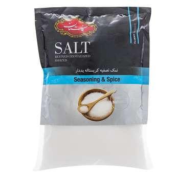نمک تصفیه کریستاله یددار گلستان مقدار 500 گرم