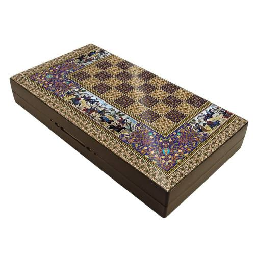 صفحه شطرنج و تخته نرد گالری نفیس طرح چوگان طول 50 سانتیمتر