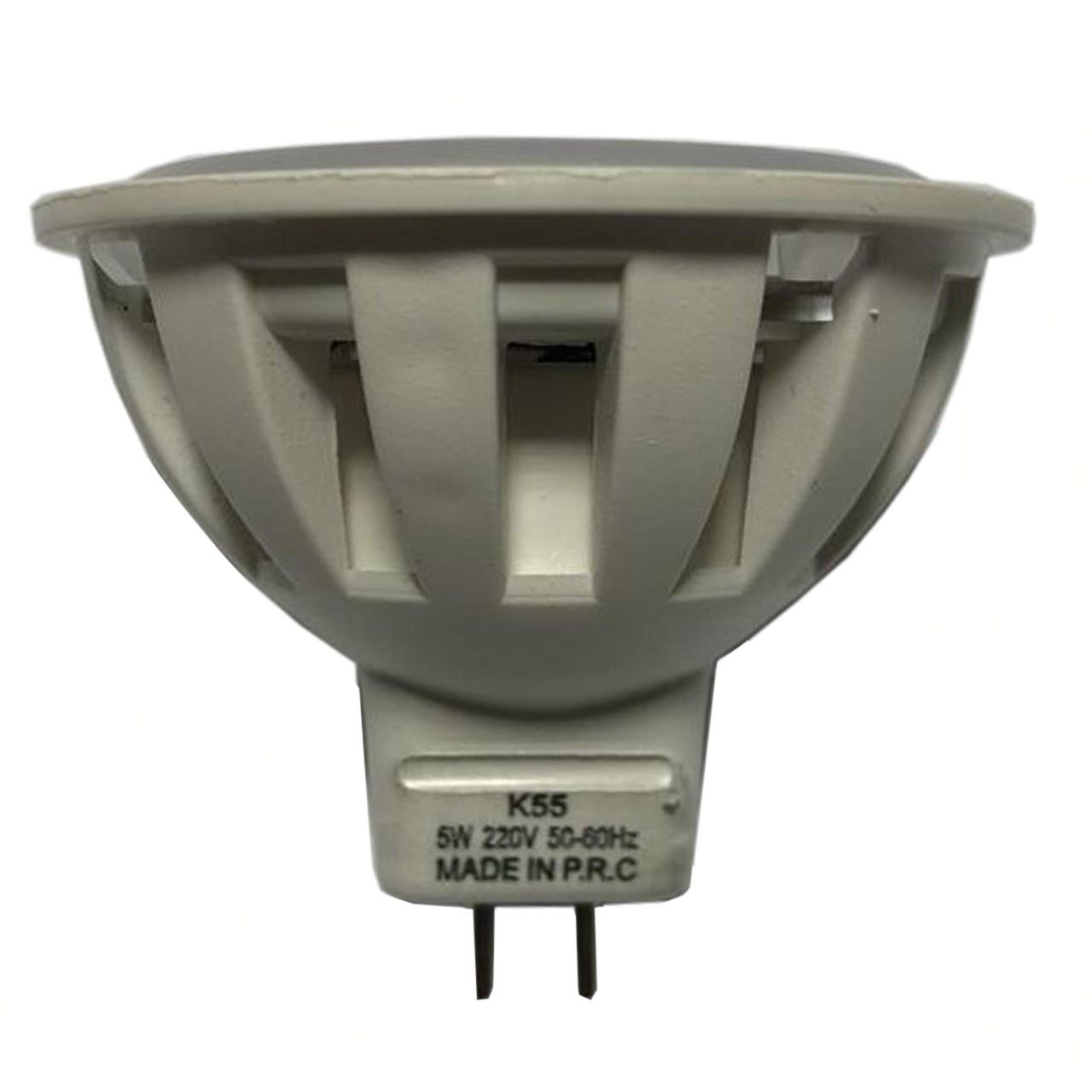 لامپ ال ای دی 5 وات  مدل هالوژن MR16 پایه GU5.3
