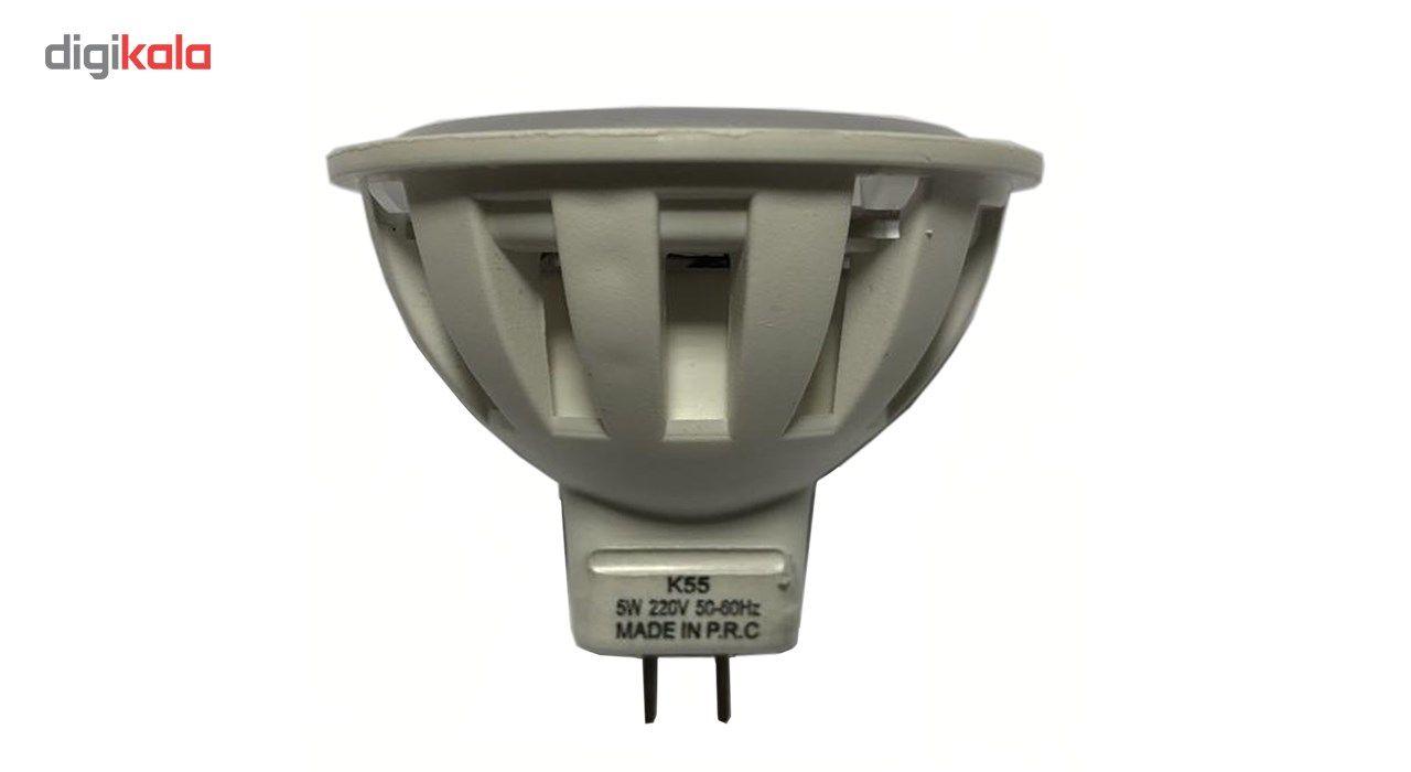 لامپ ال ای دی 5 وات  کد هالوژن MR16 پایه GU5.3  main 1 1