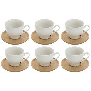 ست فنجان و نعلبکی 12 پارچه بامبوم مدل BB0292