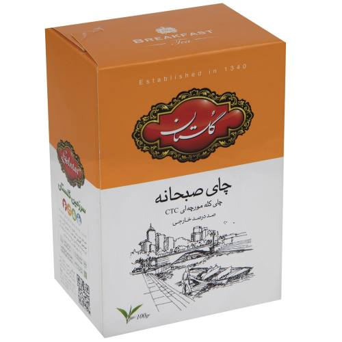 چای صبحانه گلستان مدل CTC مقدار 100 گرم