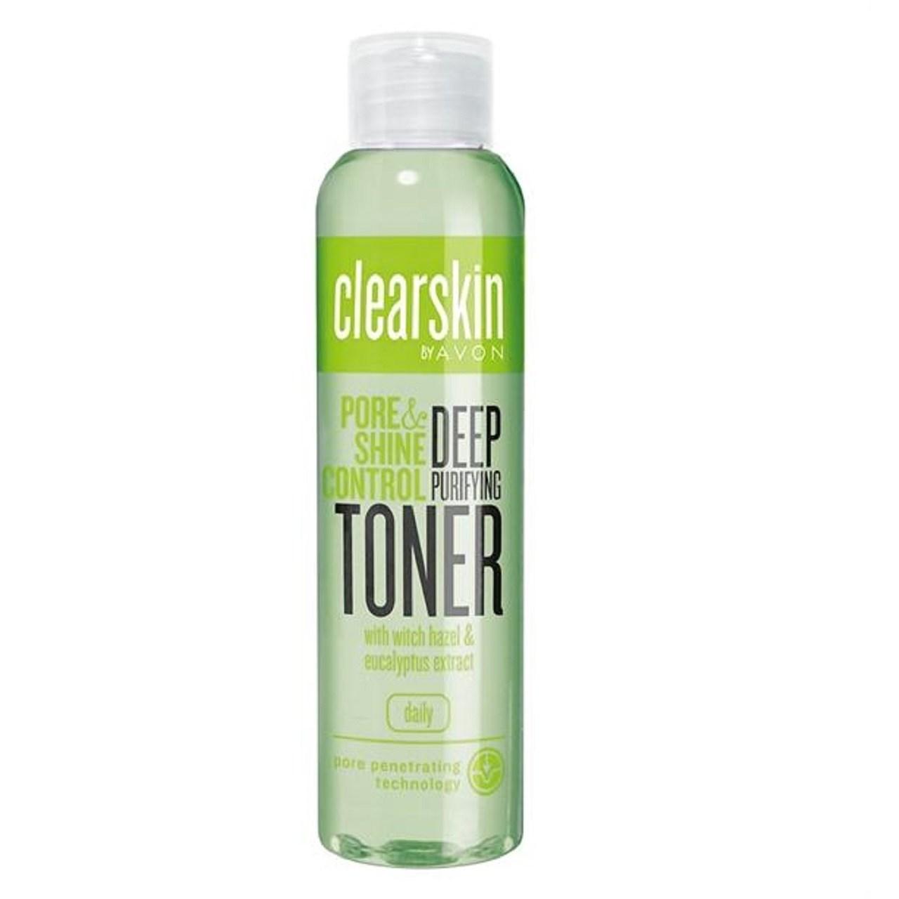 تونر پاک کننده صورت آون مدل Clearskin Pore and Shine Control Deep Purifying Toner حجم 100 میلی لیتر