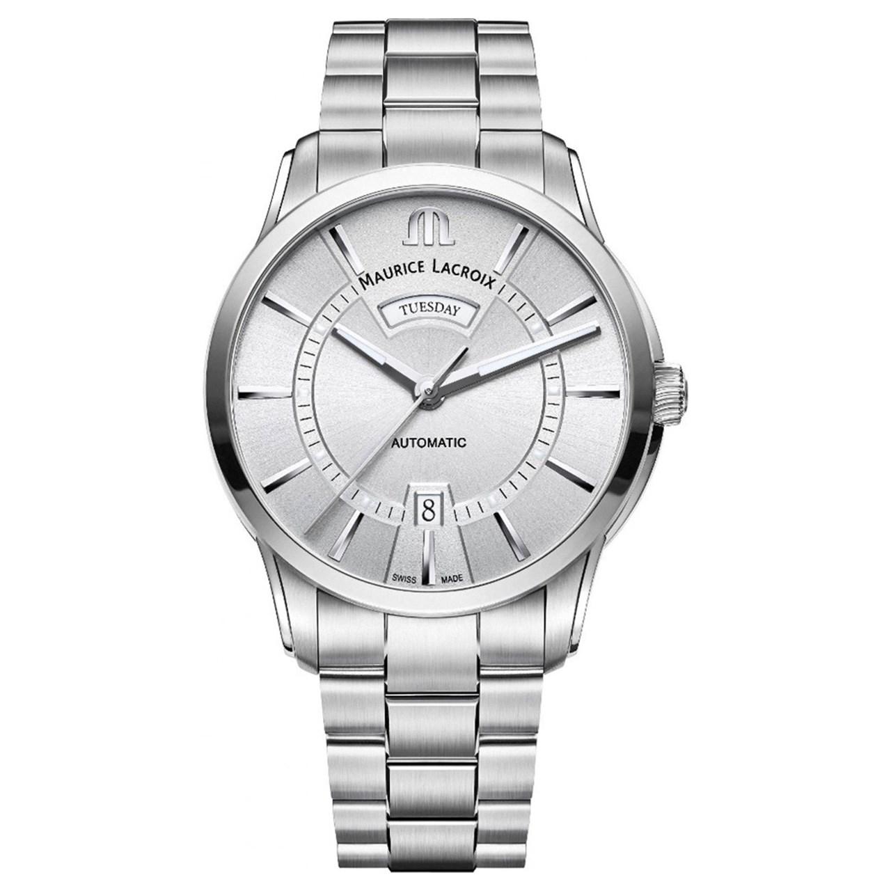 ساعت مچی عقربه ای مردانه موریس لاکروا مدل PT6358-SS002-130-1