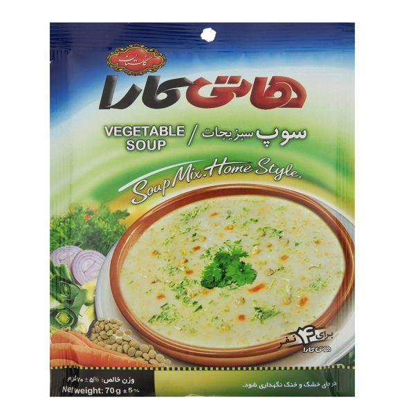 سوپ نیمه آماده سبزیجات هاتی کارا مقدار 70 گرم