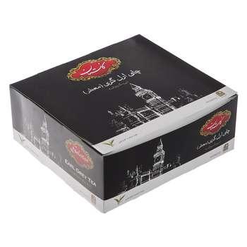 چای سیاه کیسه ای گلستان مدل ارل گری بسته 100 عددی