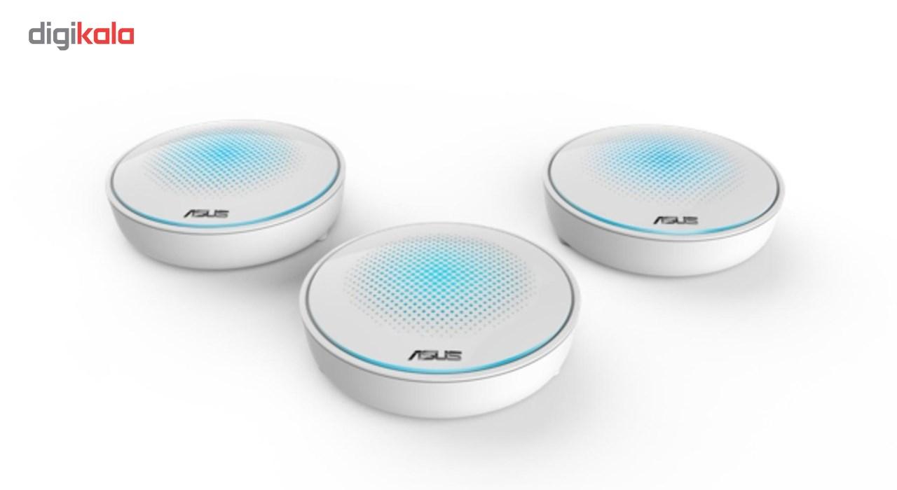 مش وای فای سه بانده ایسوس مدل Lyra AC2200  بسته 3 عددی