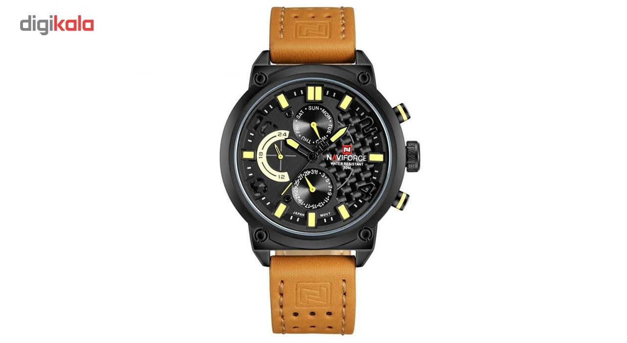 خرید ساعت مچی عقربه ای مردانه نیوی فورس مدل NF9068M/BBY