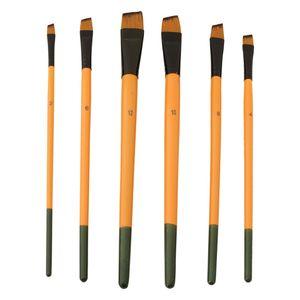 قلم مو بیانو طرح سر کج ست 6 عددی