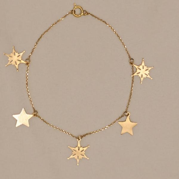 پابند طلا 18 عیار زنانه آمانژ مدل ستاره کد D9336