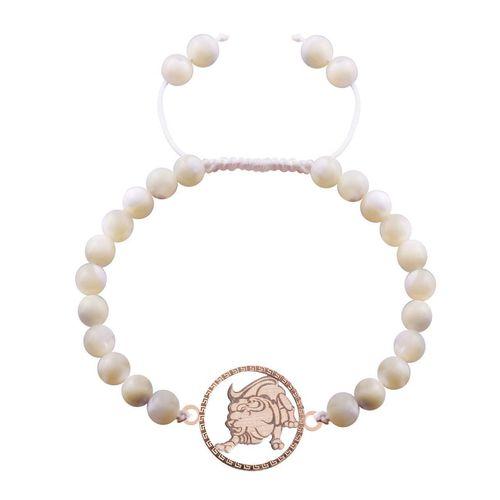 دستبند طلا 18 عیار گالری مرجان طرح ماه تولد مرداد مدل 0795