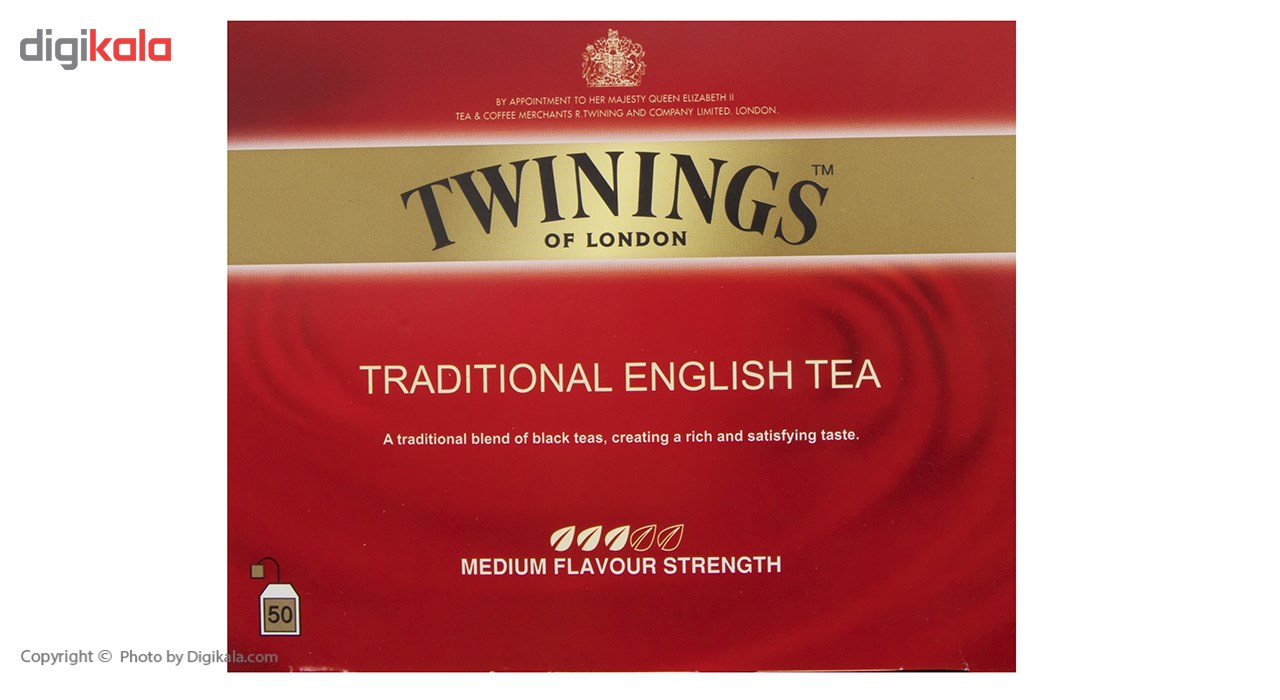 چای سیاه کیسه ای تویینینگز سنتی انگلیسی بسته 50 عددی