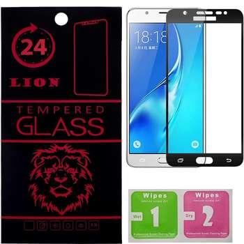 محافظ صفحه نمایش شیشه ای لاین مدل 3D Full Cover مناسب برای گوشی سامسونگ J7 Prime