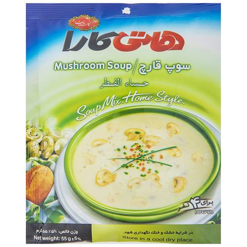 سوپ نیمه آماده قارچ هاتی کارا مقدار 55 گرم