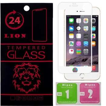 محافظ صفحه نمایش شیشه ای لاین مدل 3D Full Cover مناسب برای گوشی اپل آیفون 6 پلاس/ 6s پلاس