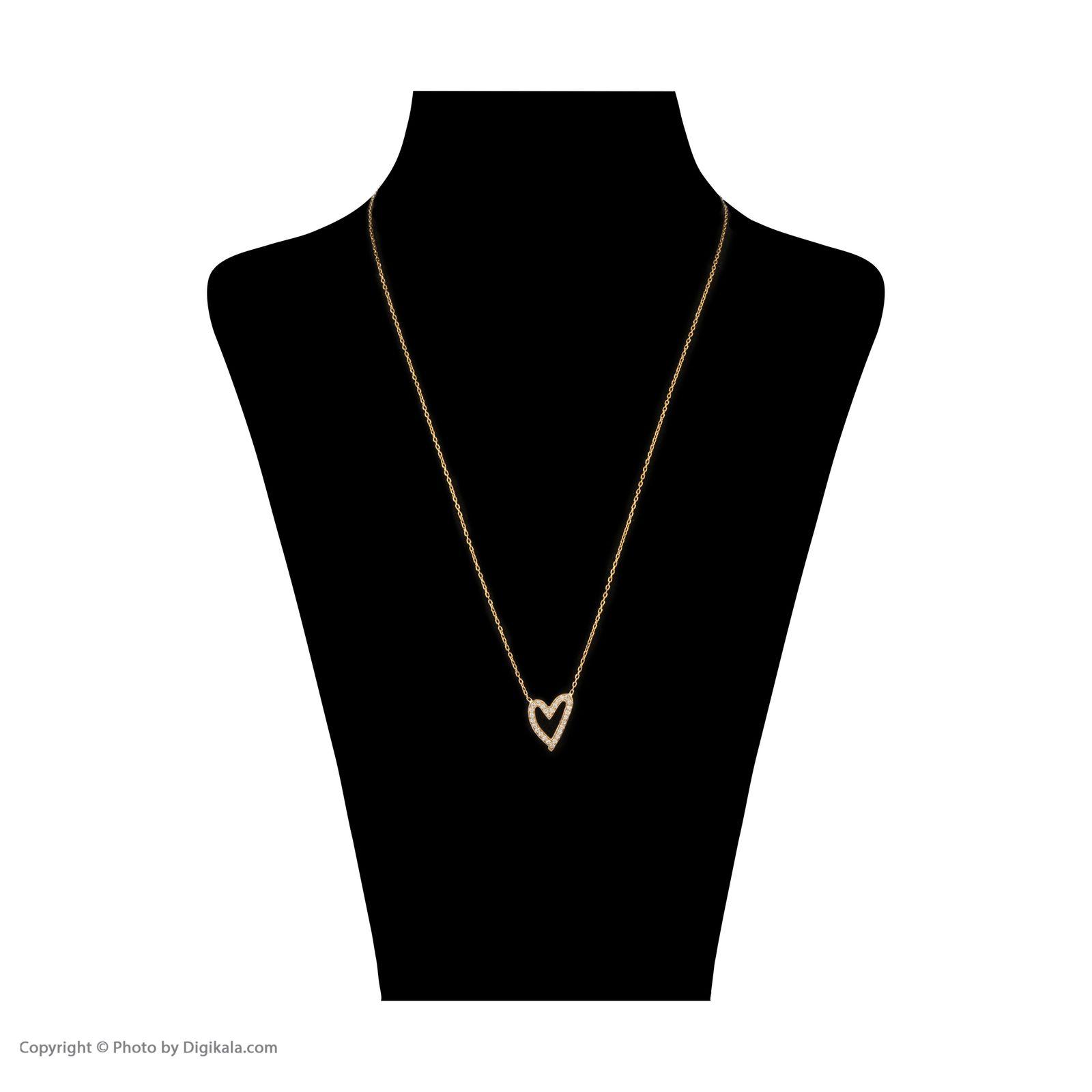 گردنبند طلا 18 عیار زنانه سنجاق مدل X082154 -  - 3