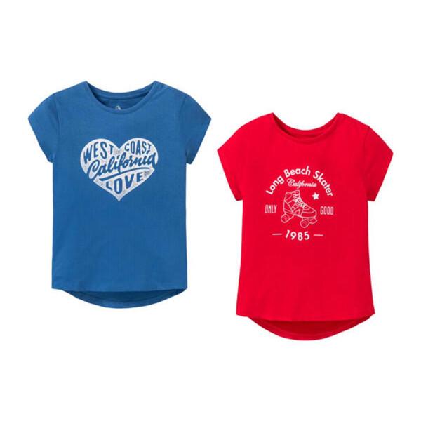 تی شرت آستین کوتاه دخترانه پیپرتس مدل K0126 مجموعه 2 عددی
