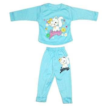 ست تی شرت و شلوار نوزادی دخترانه  کد 8888BL