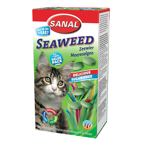 مکمل گربه سانال مدل جلبک دریایی و ویتامین وزن 50 گرم