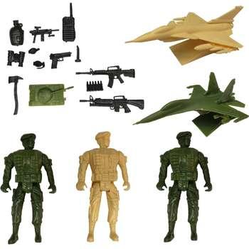 اسباب بازی جنگی مدل سرباز کد SJ1 مجموعه 17 عددی