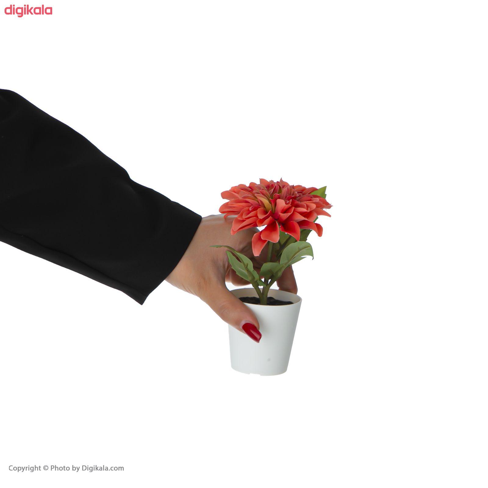 گلدان به همراه گل مصنوعی ایکیا مدل FEJKA مجموعه 3 عددی main 1 5