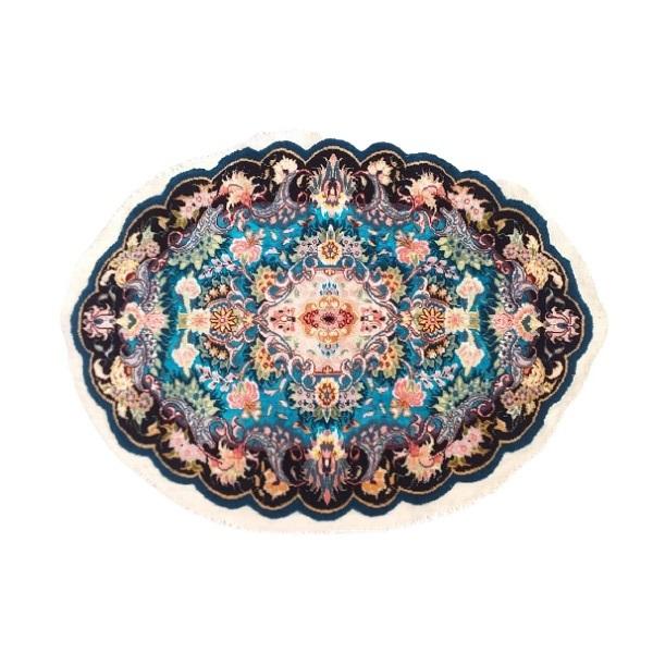 رومیزی فرش دستبافت مدل بیضی