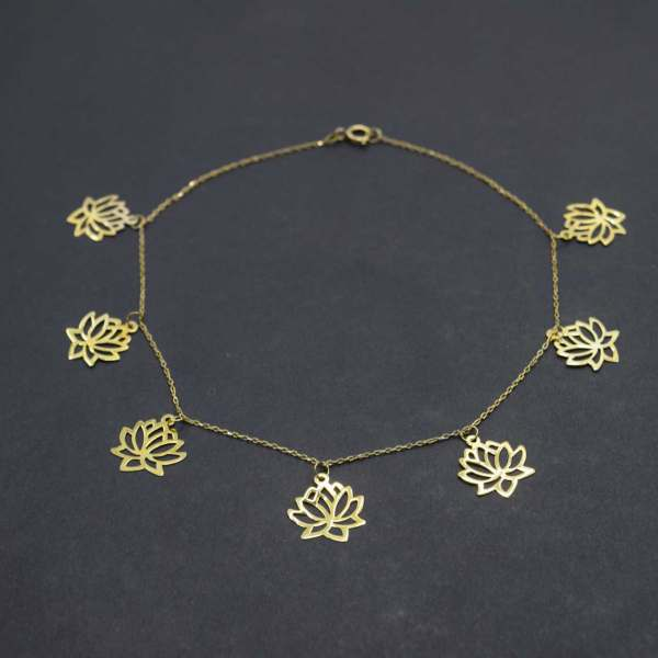 پابند طلا 18 عیار زنانه کانیار گالری مدل SH19