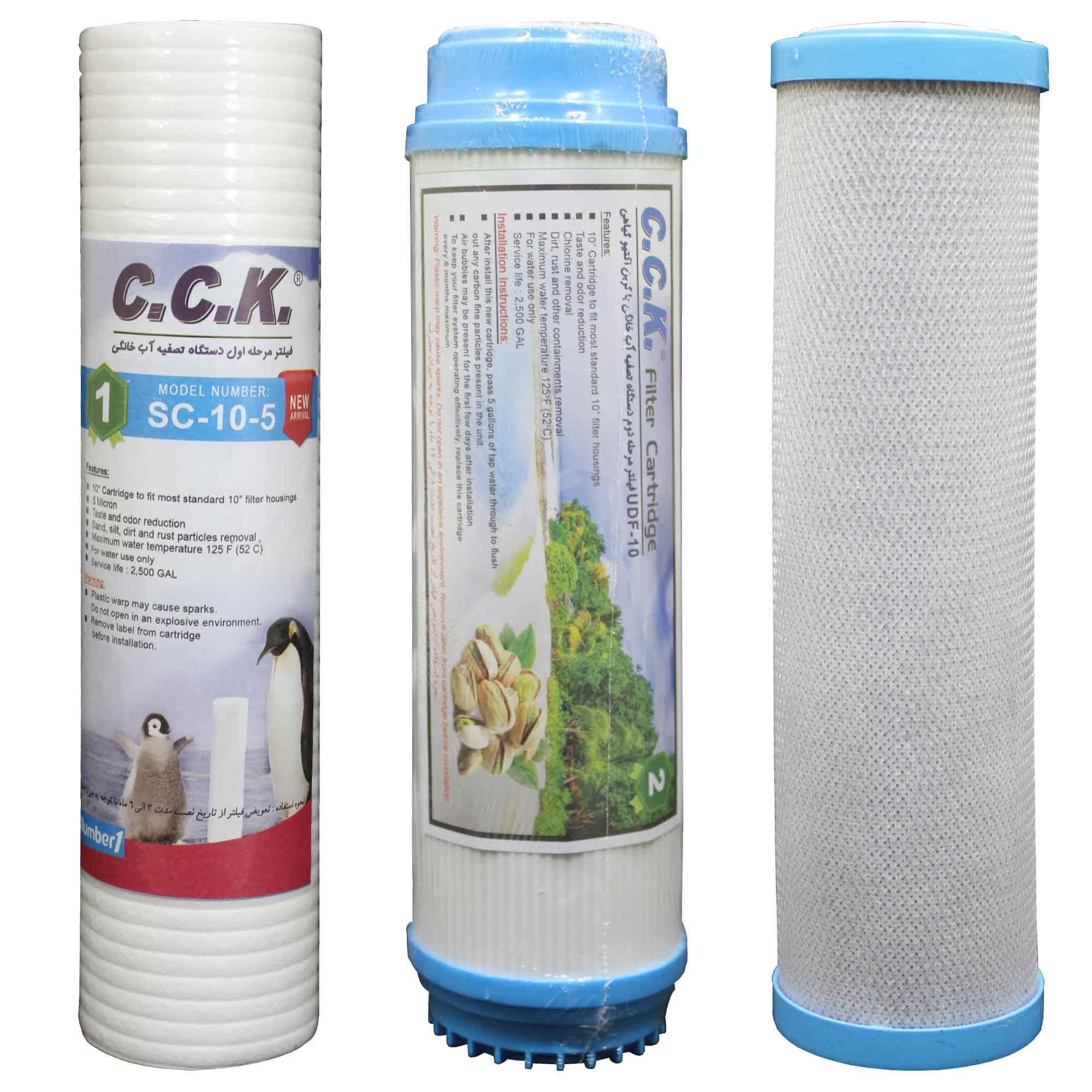 فیلتر دستگاه تصفیه کننده آب خانگی سی سی کا کد ZKH مجموعه 3 عددی