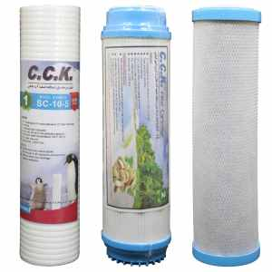 فیلتر دستگاه تصفیه کننده آب خانگی کد ZKH مجموعه 3 عددی