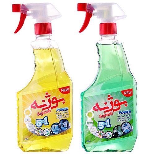 پک تمیز کننده سطوح آشپزخانه و سرویس بهداشتی بوژنه بسته 2 عددی