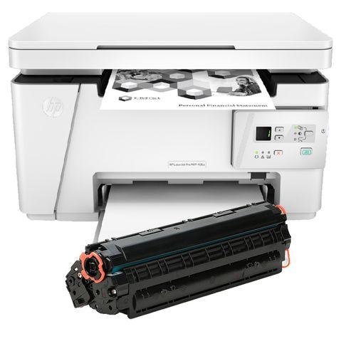 پرینتر لیزری اچ پی مدل LaserJet P26A به همراه یک تونر اضافه